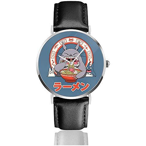 Business Casual Mein Nachbar Totoros Ramen Uhren Quarz Lederuhr
