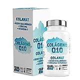 Colageno con Magnesio 90 comprimidos  Colágeno Marino Hidrolizado Magnesio Acido Hialurónico Vitamina C  Colágeno con Q10  Suplemento Articulaciones, Piel Huesos  QUALNAT