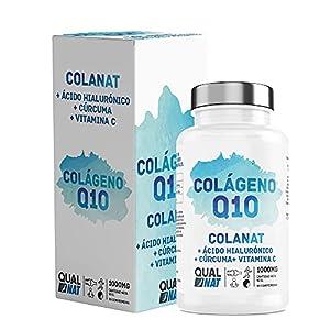 Colageno con Magnesio 90 comprimidos| Colágeno Marino Hidrolizado Magnesio Acido Hialurónico Vitamina C |Colágeno con Q10| Suplemento Articulaciones, Piel Huesos| QUALNAT