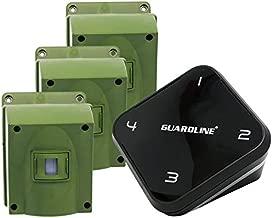 Guardline Wireless Driveway Alarm - 3 Motion Detector Alarm Sensors & 1 Receiver, 1/4 Mile Range, Weatherproof Outdoor Security Alert System for Home & Property