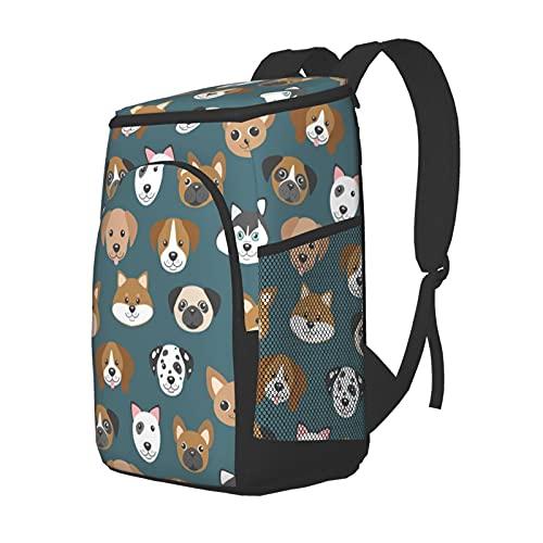 Funny Club Picknick-Rucksack mit süßem Cartoon-Hunde-Maulkorb, Kühltasche für Camping, Grillen, Familie, Outdoor-Aktivitäten