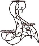Macetero alto soporte plantas Soporte de flor de la planta europea soporte de hierro forjado plantas de interior de múltiples capas de la Planta Plataforma de pie Flor rack rack Planta Planta verde de