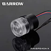 Barrow Pump for watercooling 18W PWM (Full Cover)- Plexi Pump top with Black Pump Housing