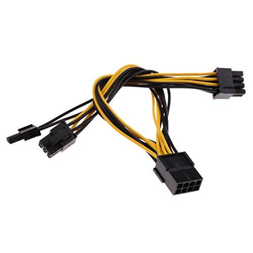Sharplace 1x PCI Express Stromverteilerkabel CPU 8-pol. zu 2X PCI-e 8-pol. (6+2) Netzteil Splitter Grafikkarte 8-Poliger Power Splitter Verlängerungskabel