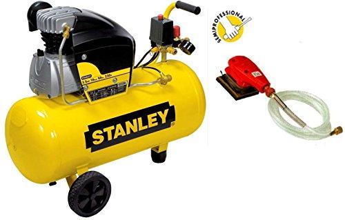 Compressore aria Stanley D250/10/50 50 lt lubrificato 2,5 HP 8 bar+MINI-LEVIGATRICE FINI