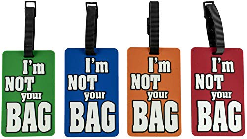 Stephanie Imports Unisex-Adult Luggage Suitcase Bag Tags (Pack of 4) One Size I'm Not Your Bag