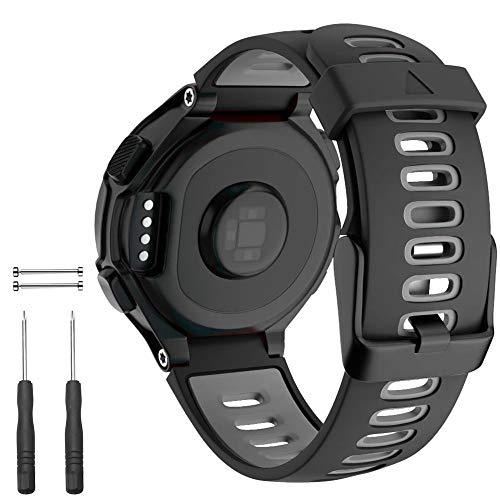 Cakamenshy Correa deportiva de silicona suave ajustable compatible con Forerunner 220 230 235 620 630 735XT Approach S20 S5 S6 bandas para Garmin Smart Watch accesorio