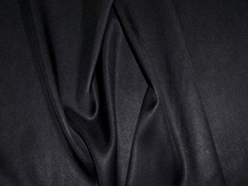 Italienischer Cupro Satin-Stoff für Kleider, Schwarz, Meterware