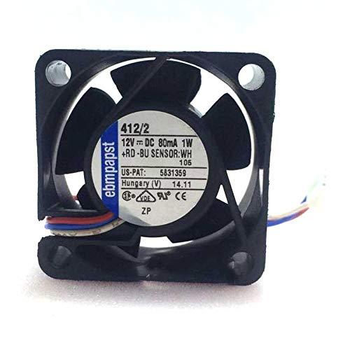 N+A Mute Fan for German ebmPapst TYP 412/2 12V 1W 80MA,Inverter Fan TYP 412/2 4020 4 cm 4CM 3Wire