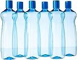Princeware Aster Pet Fridge Bottle Set, 975ml, Juego de 6, Azul