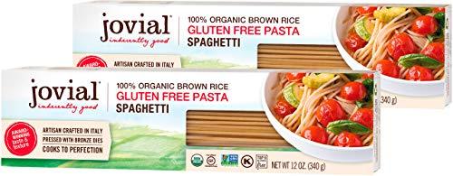 Jovial Spaghetti Gluten-Free Pasta | Whole Grain Brown Rice Spaghetti Pasta | Non-GMO | Lower Carb | Kosher | USDA Certified Organic | Made in Italy | 12 oz (2 Pack)