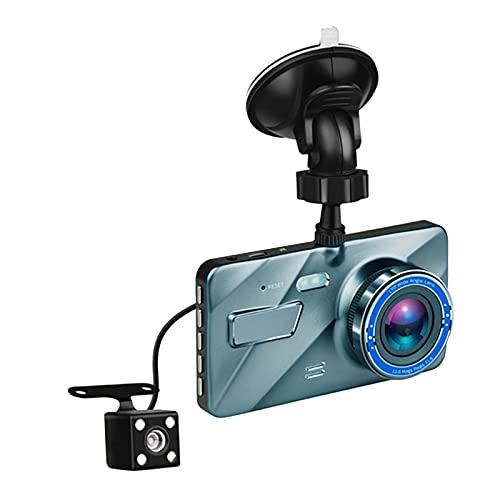 MERIGLARE Grabador de Vídeo de Cámara de Visión Trasera con de Doble Lente 1080P para Coche DVR