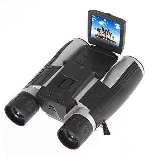 PJPPJH Cámara telescópica Binocular Digital con Zoom 12X32 Sensor CMOS de 5MP 2.0 '' TFT Full HD 1080P DVR Grabación de Video fotográfico Binoculares USB