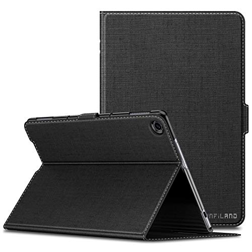 INFILAND Huawei MediaPad M5 Lite 10 Custodia, Supporto Frontale Semplice e conveniente Case per Huawei MediaPad M5 Lite 10 10.1 Pollice 2018 Tablet(con Auto Sonno/Veglia Funzione),Nero