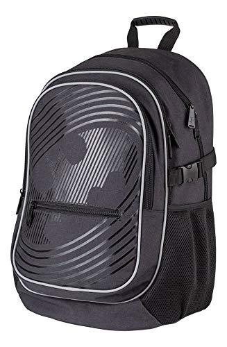 Baagl Batman Schulrucksack für Jungen - Schulranzen für Kinder mit ergonomisch geformter Rücken, Brustgurt und reflektierende Elemente (Batman)