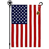 Salt and Palms American 4th of July Garden Flag Made in the USA Premium Poly Poplin Weather Resistant Double-Sided Fade Resistant Patriotic United States Stars and Stripes Perfect Decor for Outdoor Yard Porch Patio Lawn 12.5 x 19 Inches