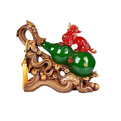 xilinshop Decoración de la Suerte Lucky Pi Xiu Decoración de la Calabaza Casa Sala de Estar Cabina de Vino Desktop Decoración Creativa Decoración de casa PI XIU Apertura Regalo Feng Shui estatuilla