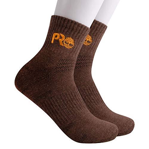 Timberland PRO Men's TB234976TD Down Draft Quarter Length Boot Socks 2-Pack - Large - Brown Heather