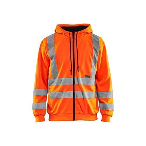 Blakläder 3346 - Felpa con cappuccio, classe 3, colore: arancione; taglia: XXL
