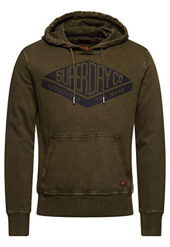 Superdry Herren Copper Label Hoodie Drab Overall Grün L