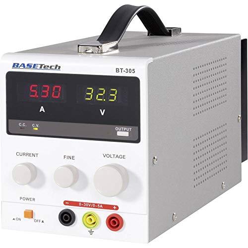 Basetech Alimentation de Laboratoire réglable BT-305 0-30 V/DC 0-5 A 150 W Nbr. de Sorties 1 x 1 pc(s)