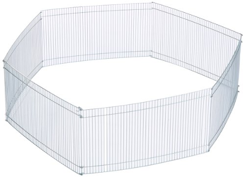 Trixie 6249 Freilaufgehege für Kleintiere, verzinkt, ø 90 × 25 cm
