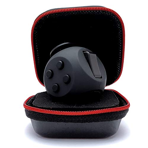 PILPOC theFube Fidget Cube - Premium Quality Fidget Cube Ball with Exclusive Protective Case, Stress Relief Toy (Black)