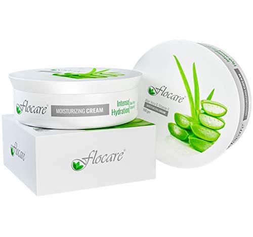 Flocare Aloe Vera Vitamin E Moisturizing Cream 100gm – Jojoba, Green Apple, Shea Butter - Amazing Glowing Natural Skin- All Purpose Skincare - UNISEX (Pack of 3)