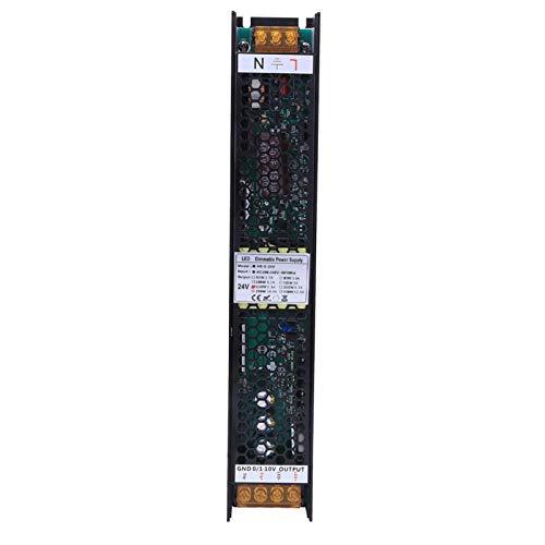 Transformador de cobre puro Fuente de alimentación de interruptor LED estable Fuente de alimentación de atenuación para iluminación de oficinas comerciales(24V/6.3A, pink)