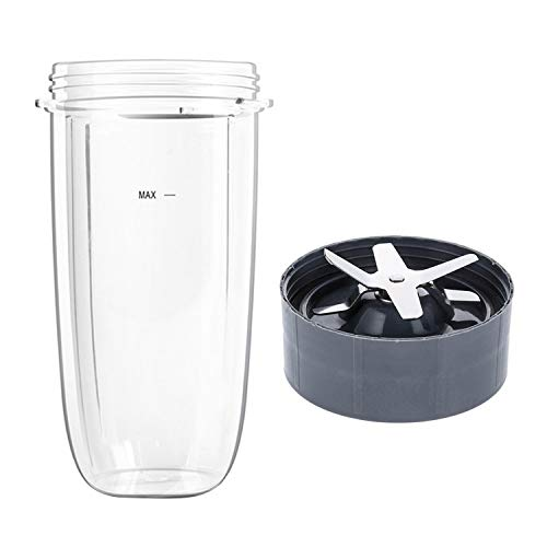 1PCS 32OZ Cup + 1PCS Cross Blade Replacement Parts Accessories Compatible with NUTRIBULLET 900W Blender