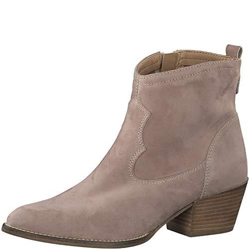 Tamaris Damen Stiefel 25700-34, Frauen Cowboy Stiefel, leger Boots Stiefelette lederstiefel Western-Stiefel reißverschluss,Taupe,40 EU / 6.5 UK