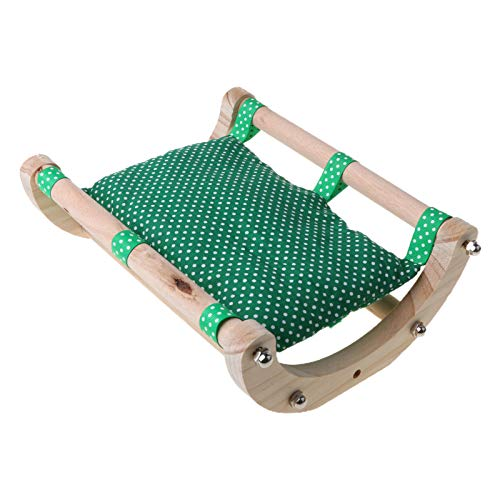 RG-FA Camas de animales pequeños – Hamster de madera de conejillo de indias cama sofá cama juguete nido hamaca jaula accesorios