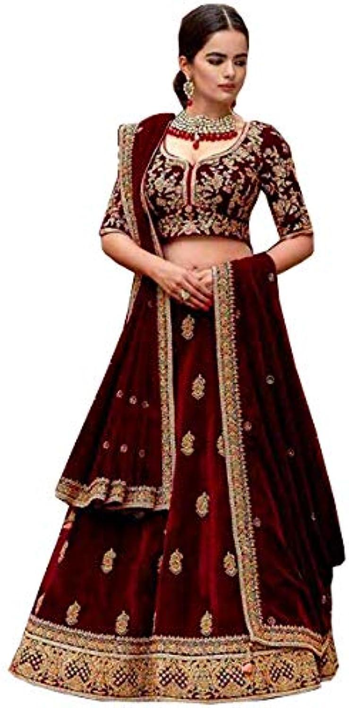 Designer heavy bridal wedding lehenga choli for women party wear velvet lengha sari dream exporter 1195