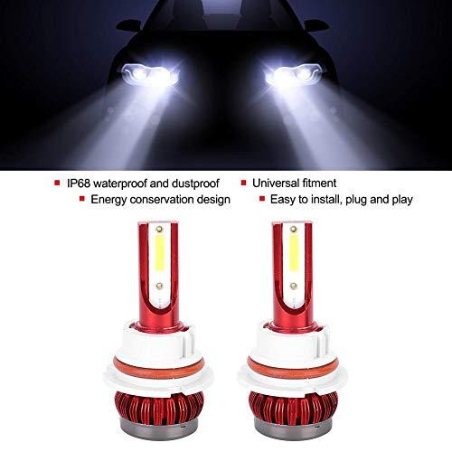 24W 6000k FS35 9004 Faros delanteros LED, par de faros delanteros de coche Bombillas de faros delanteros de coche extremadamente brillantes IP68 Luz de cabeza de lámpara de luz antiniebla LED impermea
