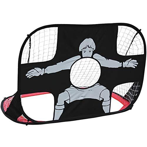 Inson Fußballtor für Kinder 2-in-1 Klapp- und tragbar für Kinder Klapp- und tragbares Fußballtornetz für Kinder