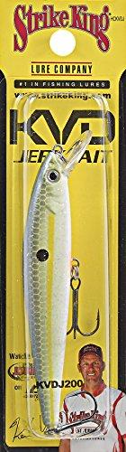 Strike King Jerkbait 200 Chartreuse Sexy Shad, 4 1/2-inch (HCKVDJ200-538)