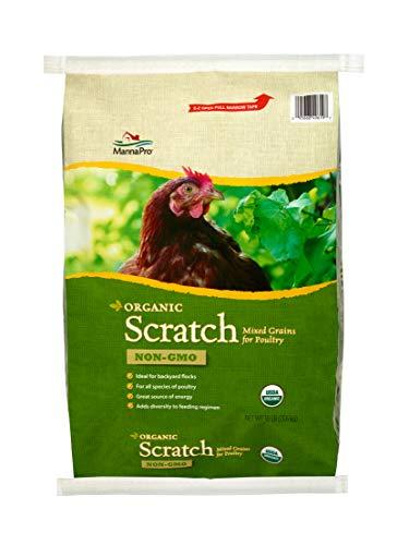 Manna Pro Organic Scratch | Organic Chicken Feed, Chicken Scratch, Non GMO | 30 Pounds
