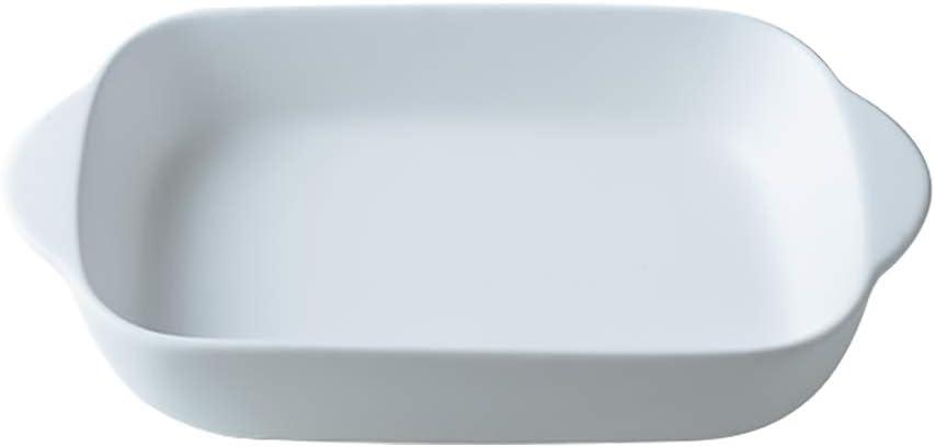 Kleine Keramik-Backformen mit Griff f/ür Ofen Keramik Lasagna oder Kasserolle 23 x 13 cm wei/ß