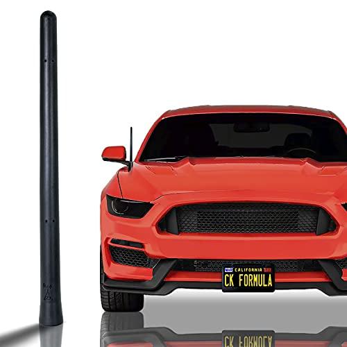 "CK FORMULA Bending Car Antenna, 7"" Black Automotive Antenna Replacement, AM/FM Radio Compatibility, Internal Copper Coil, Anti Theft Design, Car Wash Safe, Universal Fit, 1 Piece"