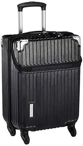 [トラベリスト] スーツケース ジッパー トップオープン ビジネスキャリー 機内持ち込み可 34L 53.5 cm 3.2kg ブラックヘアライン