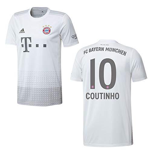 adidas Bayern Trikot Away Herren 2020 - Coutinho 10, Größe:L