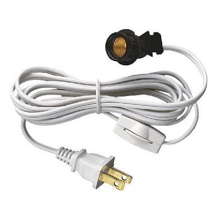 Cord Set With Switch 6 Foot Snap In Socket 2 Pack