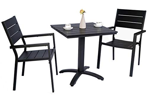 Kozyard Kirk Outdoor Patio Dining Furniture Chair and Table Sets (3 PCs Set)