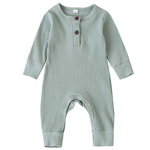 pureborn Baby Girl Jumpsuit Cute Coverall Pajamas Long Sleeve 0-24 Months