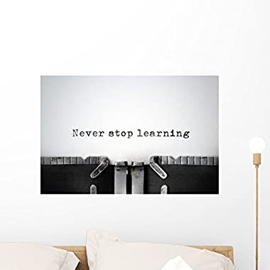 Wallmonkeys Knowledge Inspirational Quote Typed Wall Mural Peel and Stick Graphic (24 in W x 16 in H) WM359792
