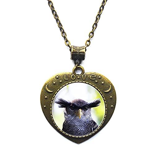 Collar de búho de águila, regalo de pájaro, colgante de búho, joyería de búho, joyería de pájaro, collar de pájaro, regalo de búho salvaje JV85