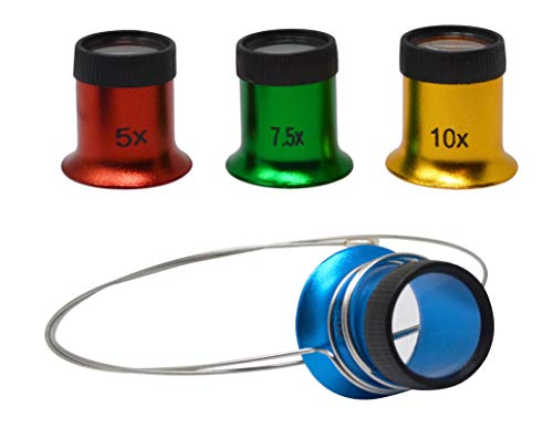 Set of 4 Magnifying Eye Loupes with Headband Multiple Magnification Jewelry Making Gemstone Diamond Inspection Tools