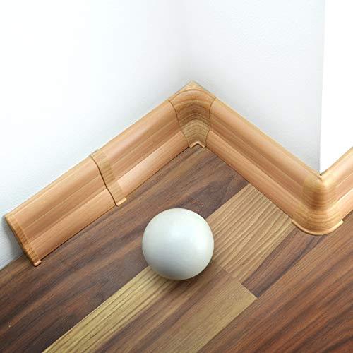 [DQ-PP] Außenecke 62mm PVC Buche Laminatleisten Fussleisten aus Kunststoff PVC Laminat Dekore Fußleisten