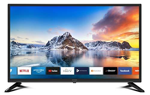 DYON Smart 32 XT 80 cm (32 Zoll) Fernseher (HD Smart TV, HD Triple Tuner (DVB-C/-S2/-T2), Prime Video, Netflix & HbbTV) [Modelljahr 2020]