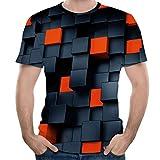 Overdose Camisas Hombre Originales Baratas,Camisas Hombre Fiesta Camisas Hombre 3D Estampadas El Cubo De Rubik...